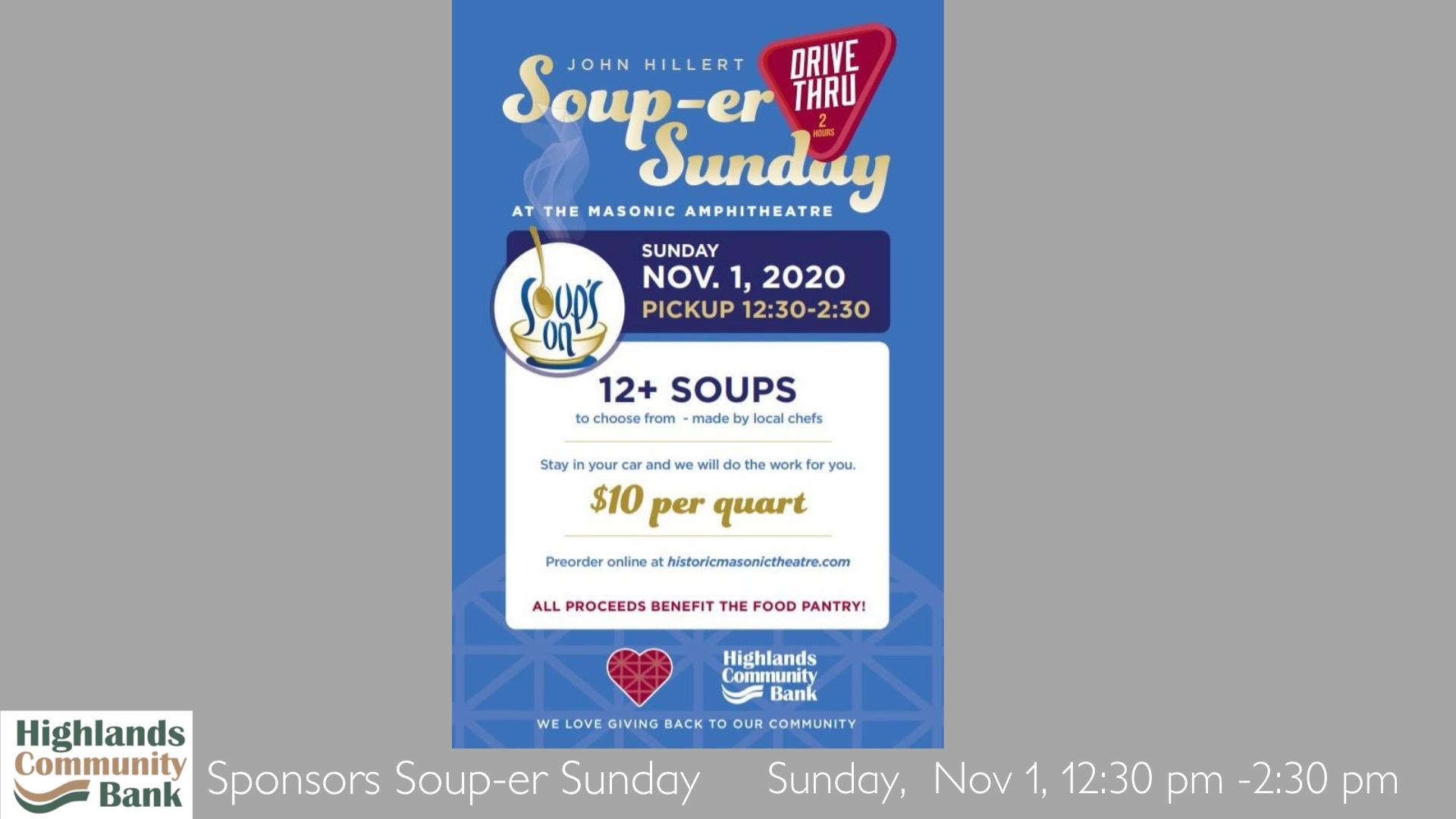Soup-er Sunday 11 01